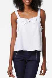 TRISTAN Aline Knot Detail Linen Top - Product Mini Image