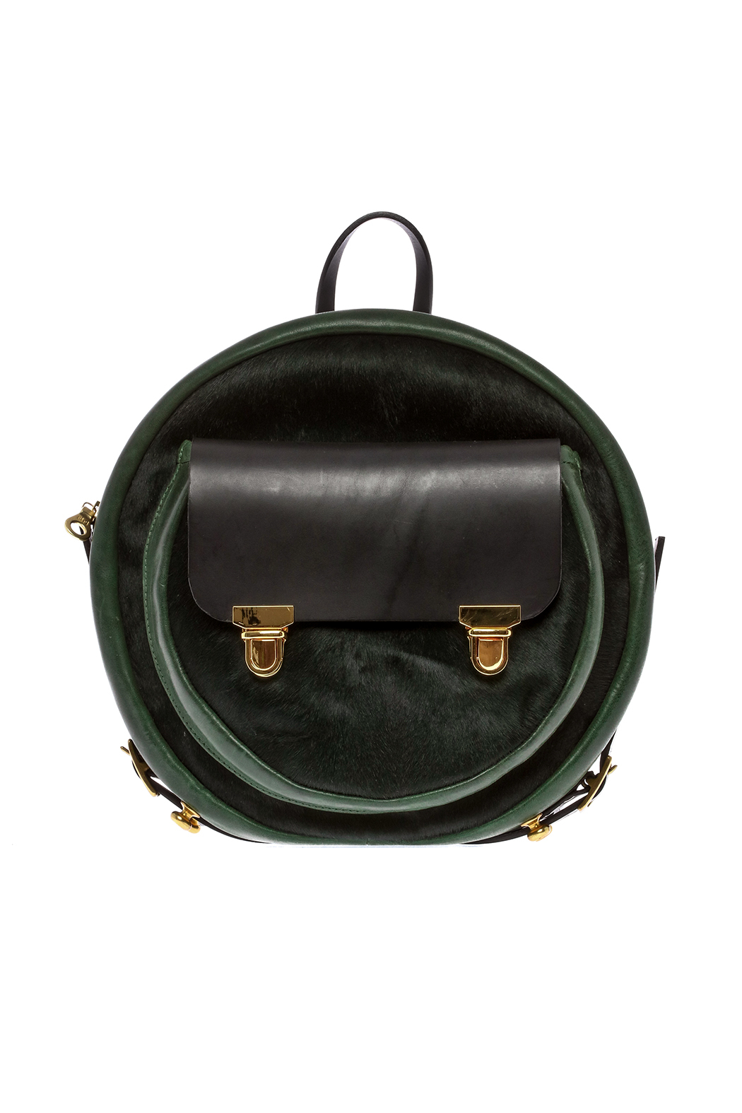 Alisa Smirnova Moss Green Backpack - Front Cropped Image