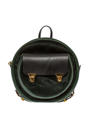 Alisa Smirnova Moss Green Backpack - Front cropped