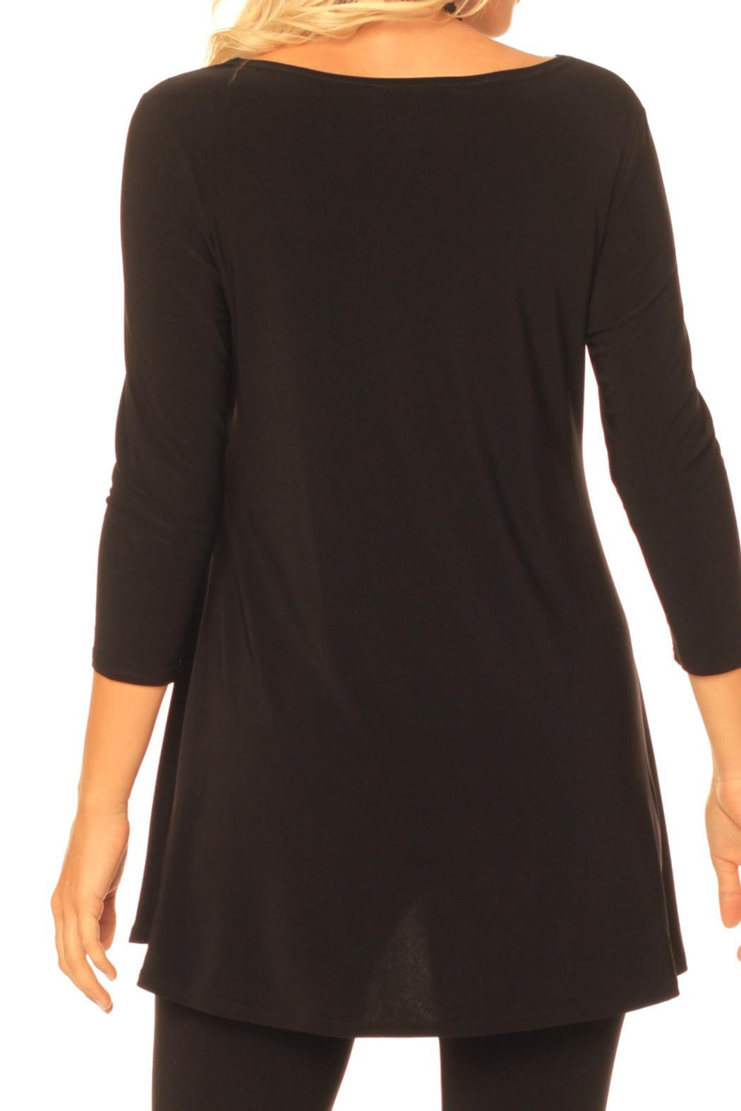 Alisha D Round Neck Tunic - Side Cropped Image