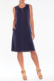 Alison Sheri French-Blue Sleeveless Dress - Product Mini Image