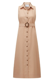 Lisa Marie Fernandez Alison Sleeveless Button Down Dress - Product Mini Image