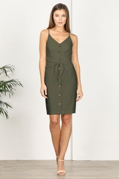 Adelyn Rae Alison Tie Front Dress - Product List Image