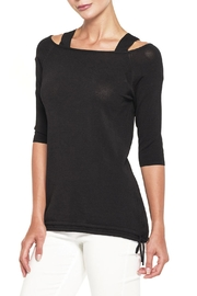 Elena Wang Black Cold-Shoulder Sweater - Product Mini Image