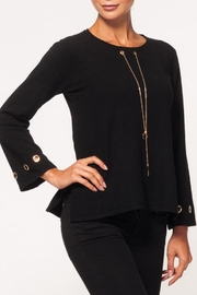 Alison Sheri Black Detailed Sweater - Product Mini Image
