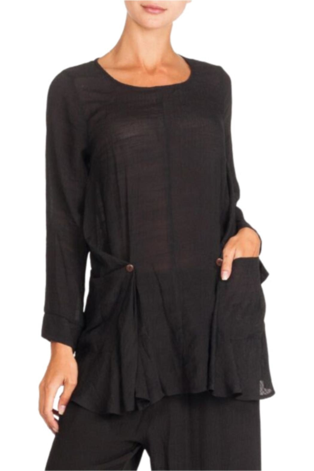 Alison Sheri Black  Long Sleeve Tunic - Main Image