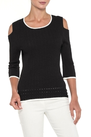 Alison Sheri Black/white  Knit - Front cropped