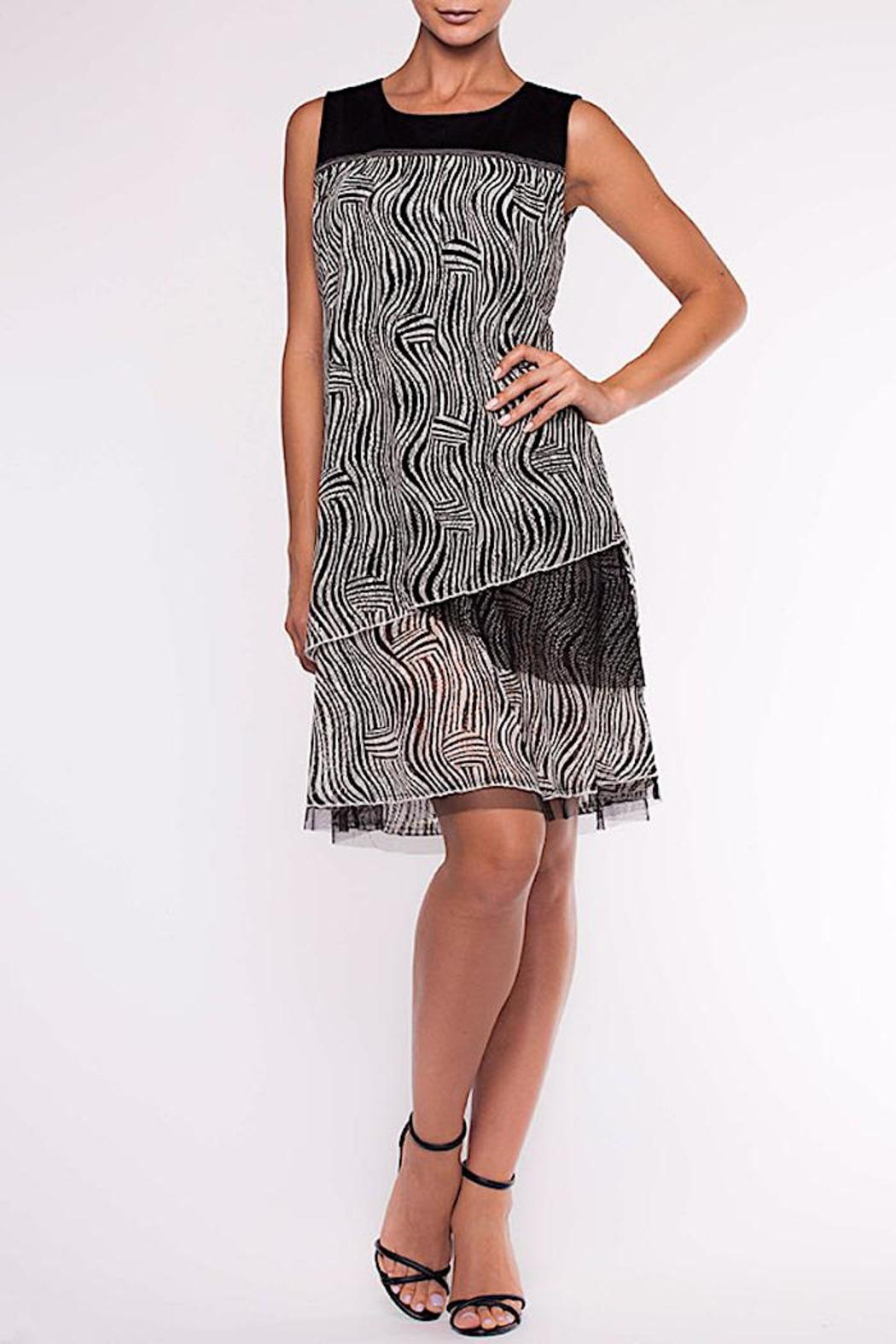 Alison Sheri Black & White Dress - Main Image