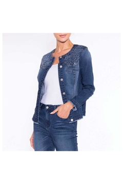 Alison Sheri Bling Denim Jacket - Alternate List Image