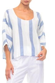 Alison Sheri Blue And White Blouse - Product Mini Image