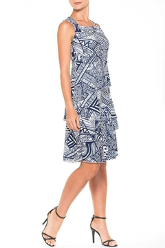 Alison Sheri Navy/white Tier  Dress - Product List Image