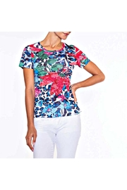 Alison Sheri Cerise Hibiscus Tee - Front cropped