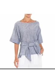 Alison Sheri Chambray Tie Front Blouse - Product Mini Image