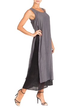 Alison Sheri Charcoal/black Double Layer Dress - Product List Image