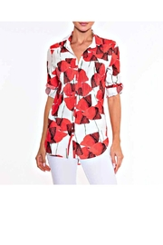Alison Sheri Coral Poppy Blouse - Product Mini Image