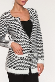 Alison Sheri Fuzzy Striped Sweater - Product Mini Image