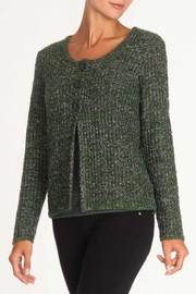 Alison Sheri Green Multi Cardigan - Product Mini Image