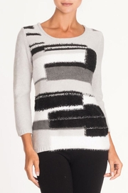 Alison Sheri Grey Textural Sweater - Product Mini Image