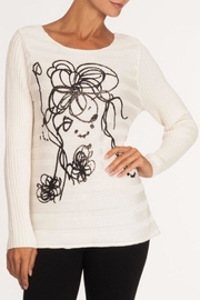 Alison Sheri Ivory Squiggle Sweater - Product Mini Image