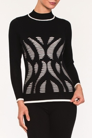 Alison Sheri Laser Cut Sweater - Front cropped