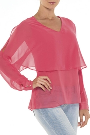 Alison Sheri Mango Double Layer Blouse - Product Mini Image