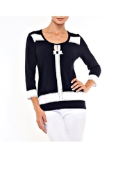 Alison Sheri Navy And White Sweater - Product Mini Image
