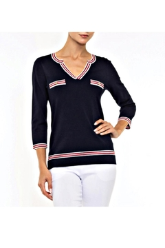 Alison Sheri Navy Nautical Sweater - Product List Image
