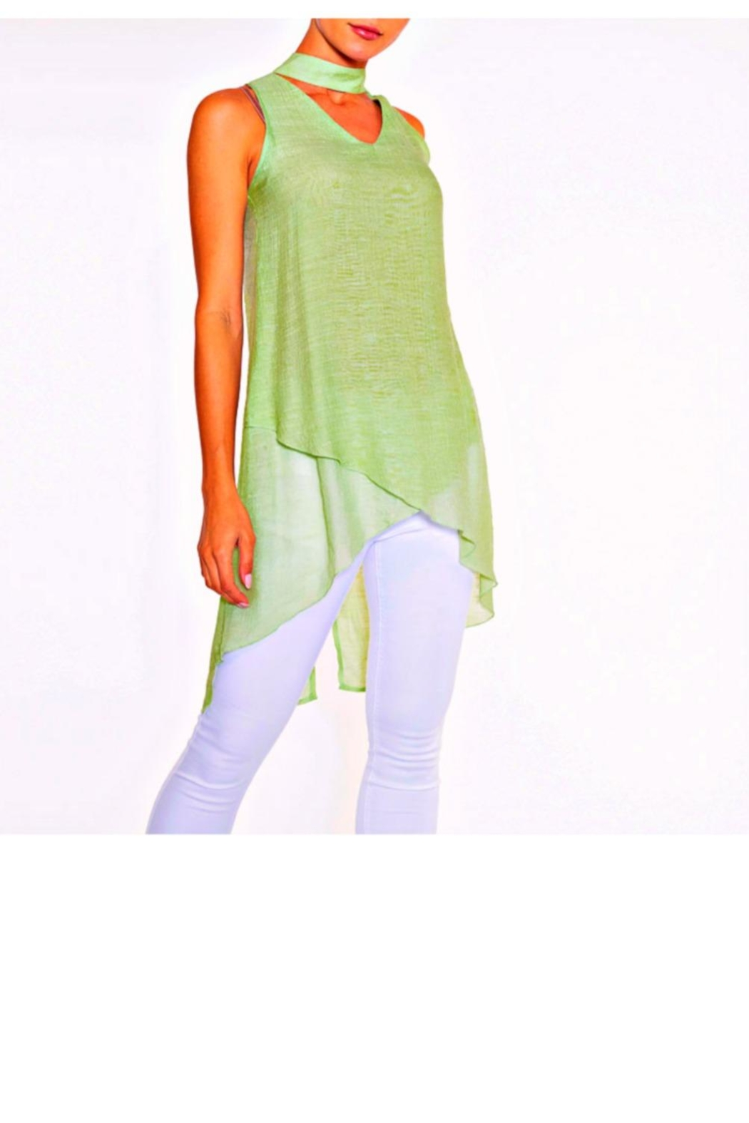 Alison Sheri Pale Lime Tunic/scarf - Main Image