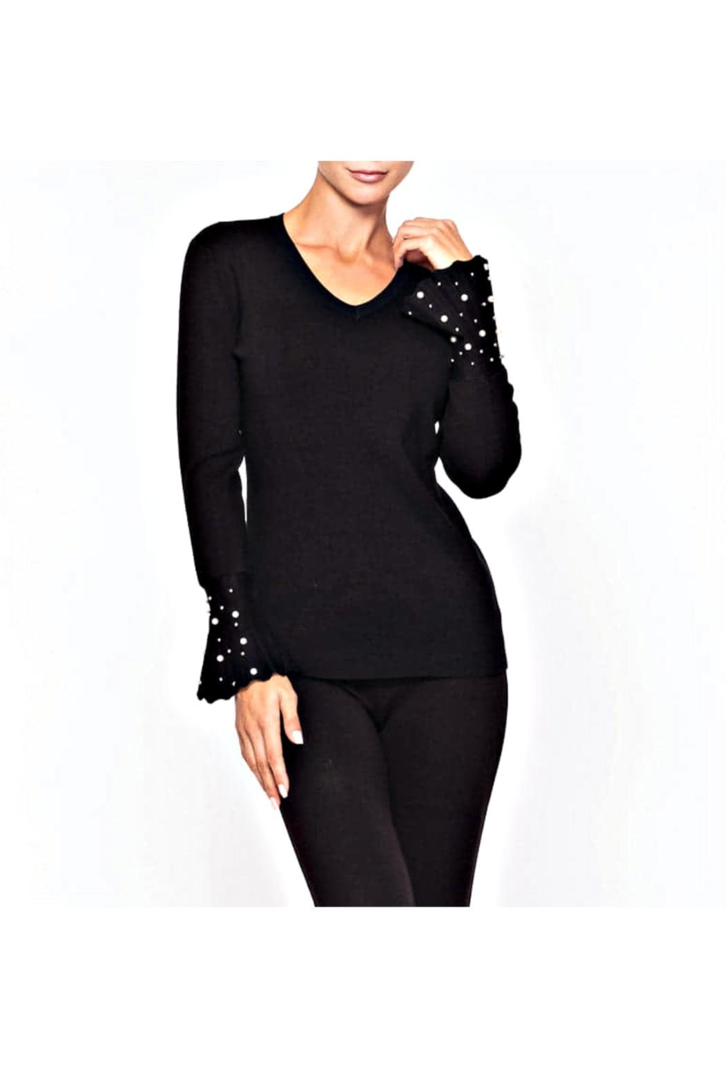 Alison Sheri Pearl Accent Sweater - Main Image
