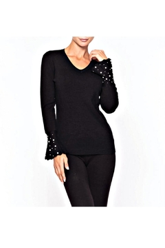 Alison Sheri Pearl Accent Sweater - Alternate List Image