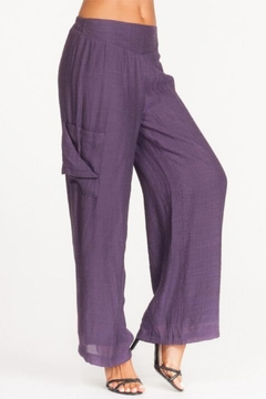 Alison Sheri Purple Wide Leg Pants - Alternate List Image
