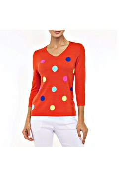 Alison Sheri Red Dot Sweater - Product List Image