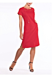 Alison Sheri Red Linen Blend Dress - Product Mini Image