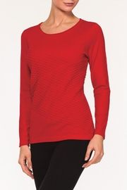 Alison Sheri Red Sweater - Front cropped