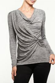 Alison Sheri Silver Grey Top - Product Mini Image