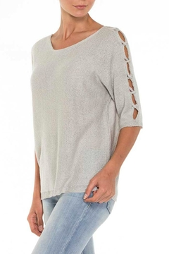 Alison Sheri Silver Sweater - Product List Image