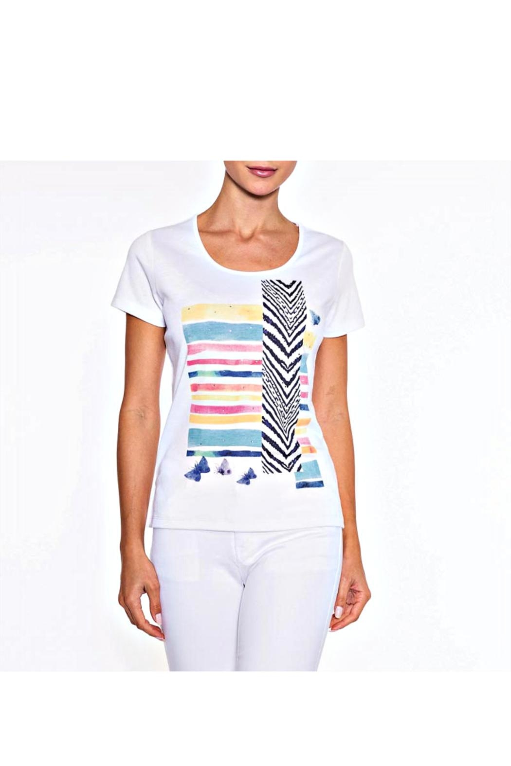 Alison Sheri Summer Tee Top - Front Cropped Image