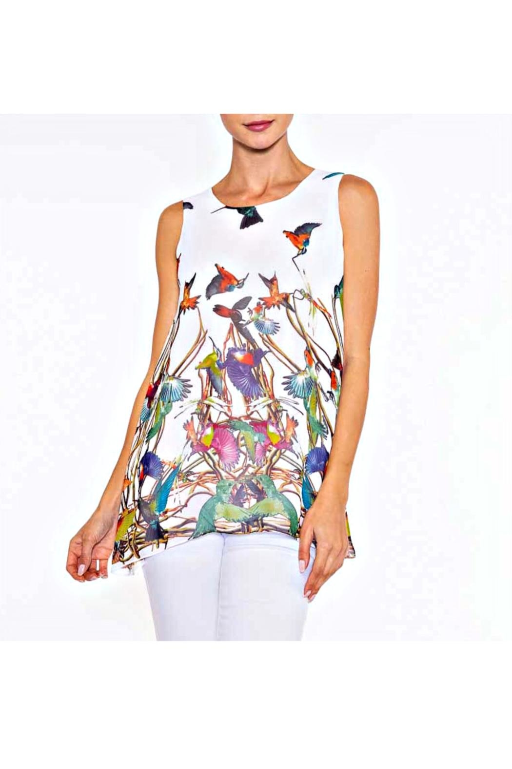 Alison Sheri Tropical Birds Tunic - Front Cropped Image