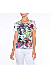 Alison Sheri Tropical Floral Tee - Front cropped