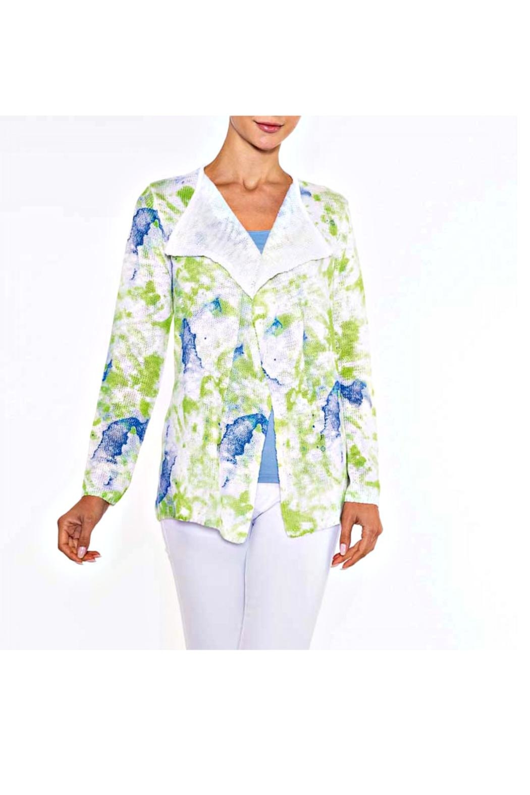Alison Sheri Watercolor Cardigan - Front Cropped Image