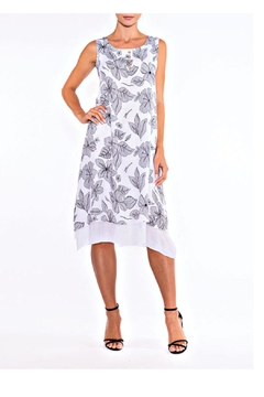 Alison Sheri White/black Sundress - Alternate List Image