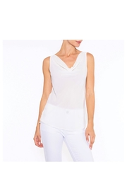 Alison Sheri White Drape Blouse - Product Mini Image
