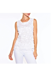 Alison Sheri White Petal Top - Product Mini Image