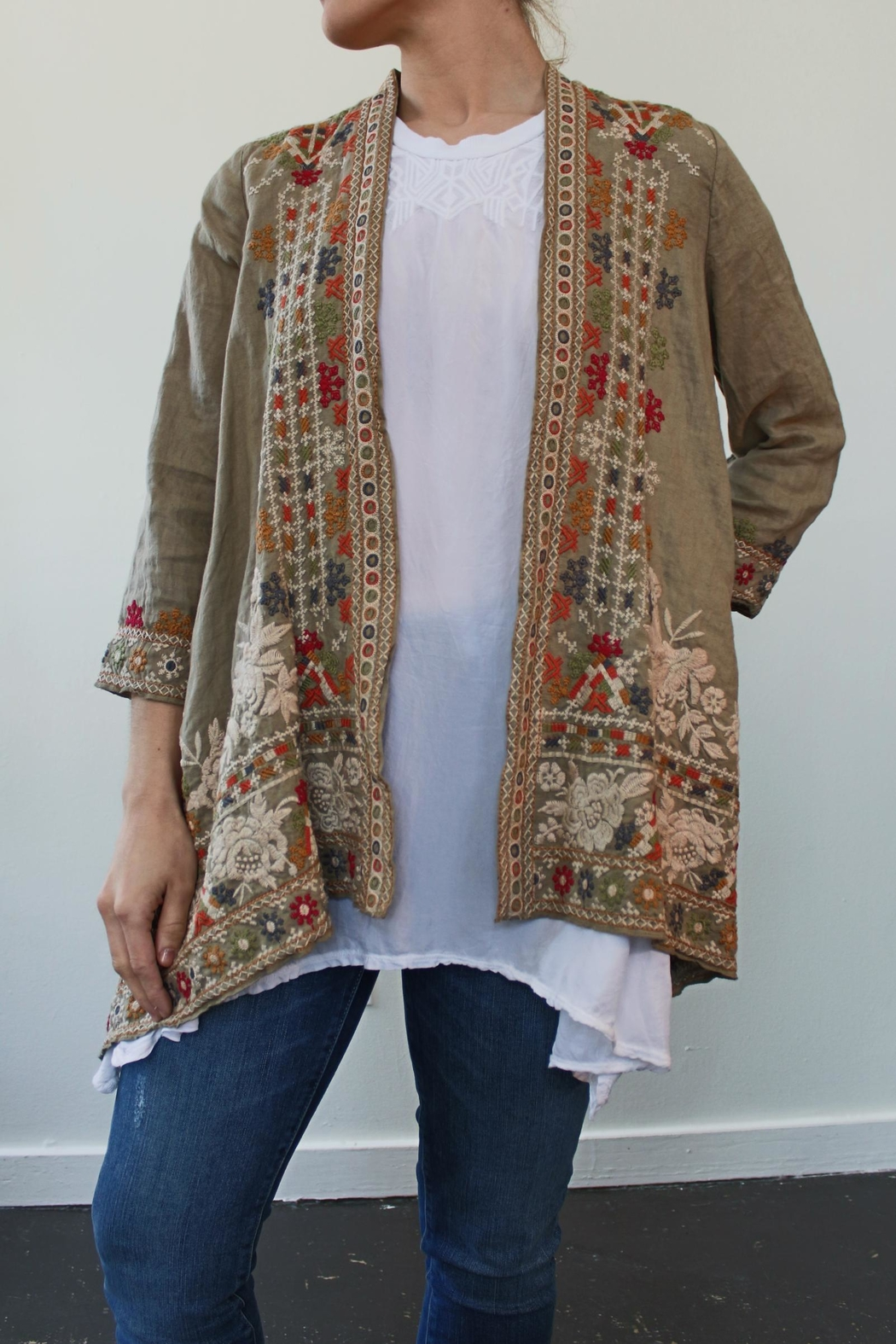 Johnny Was Aliya Draped Cardigan - Front Cropped Image