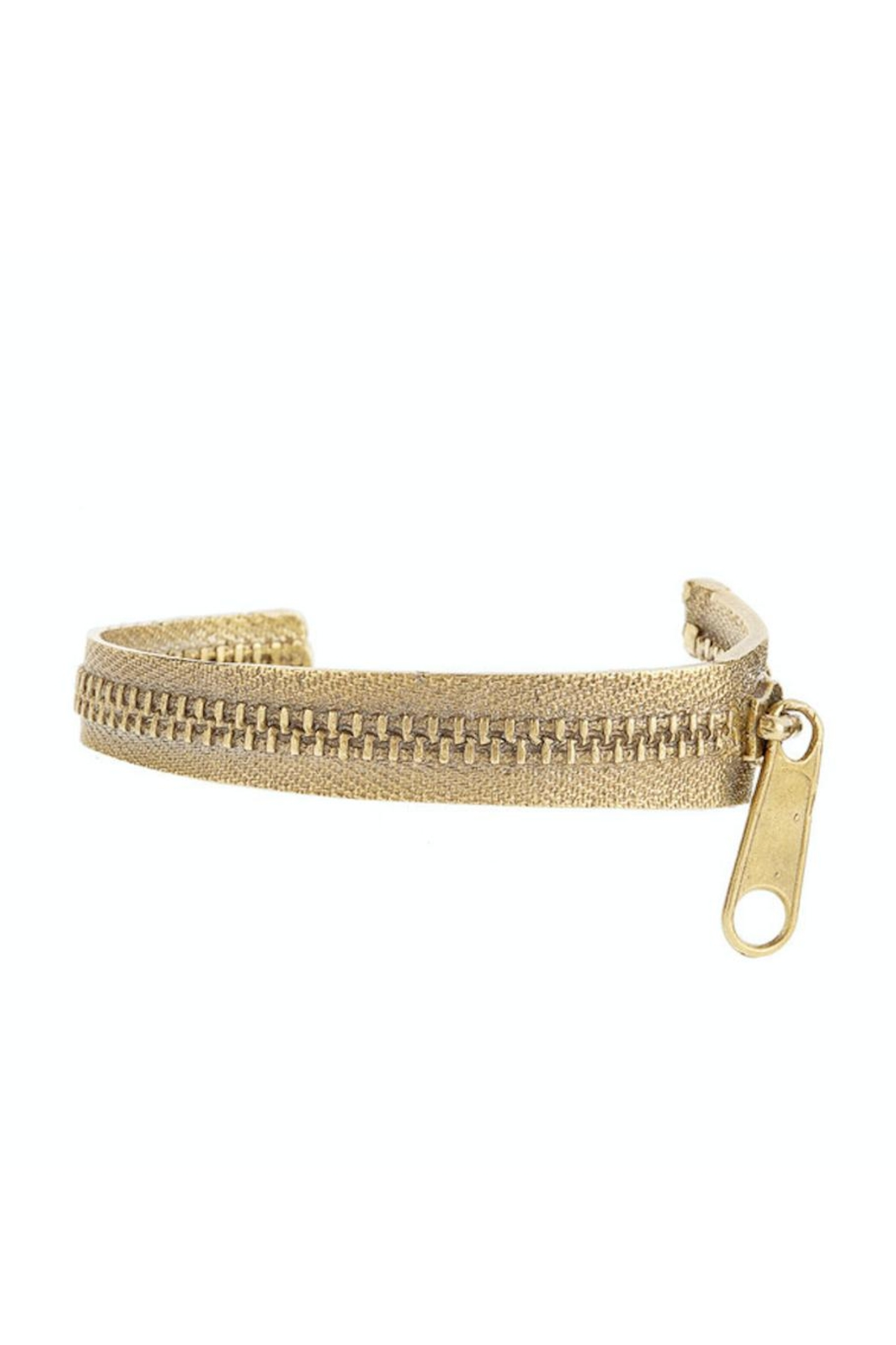 Alkemie Jewelry Open Zipper Bangle - Front Cropped Image