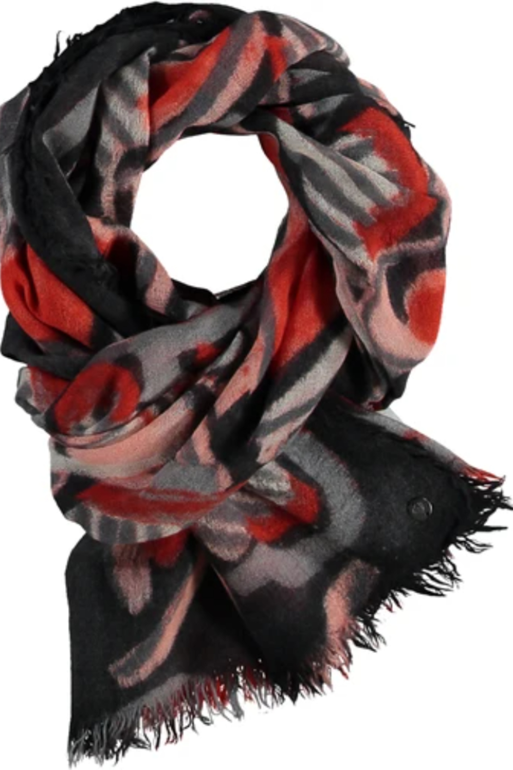V Fraas ALL ABOUT HEARTS scarf - Back Cropped Image