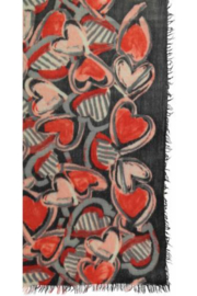 V Fraas ALL ABOUT HEARTS scarf - Other