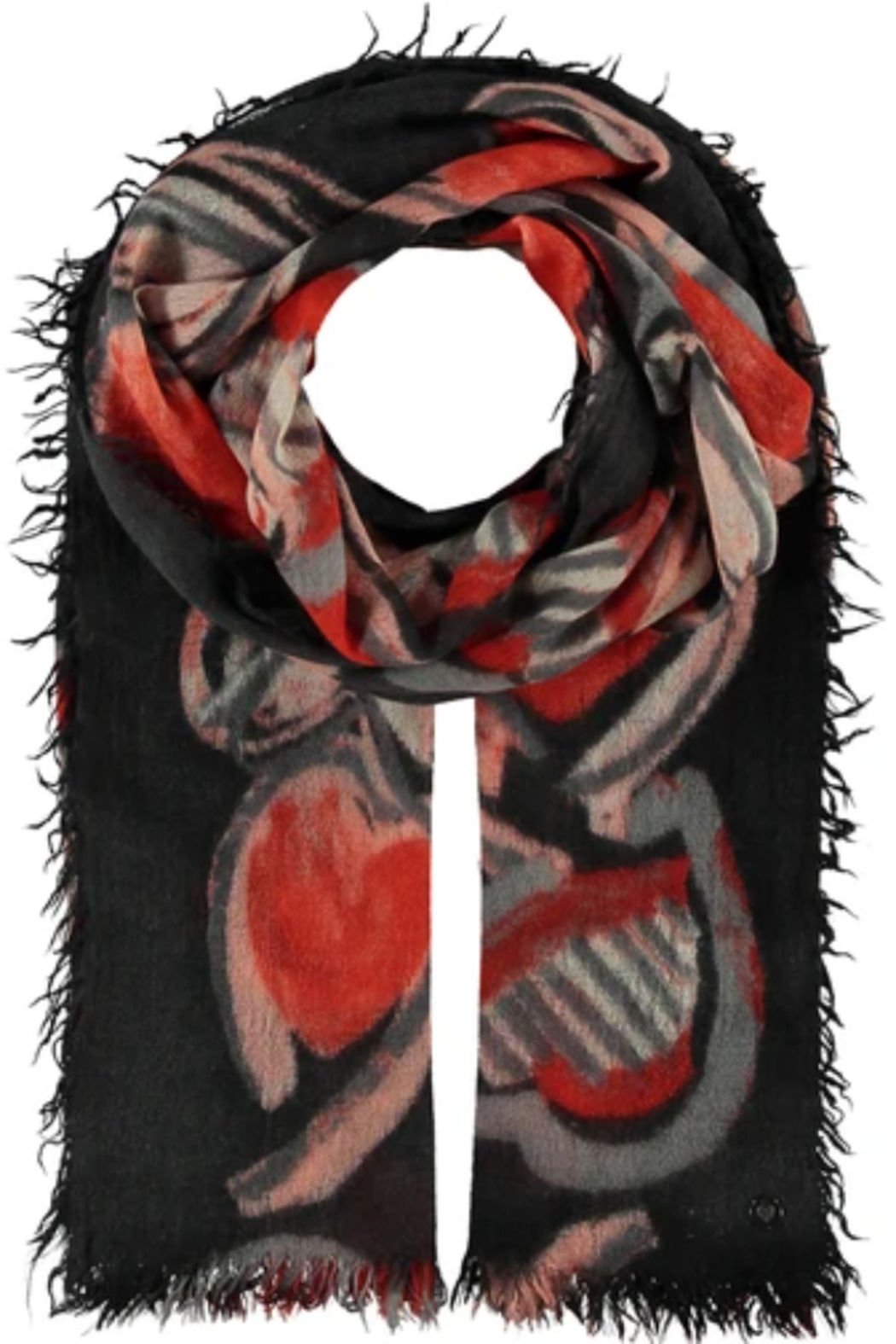 V Fraas ALL ABOUT HEARTS scarf - Side Cropped Image