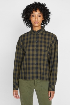 Sanctuary All About The Ruffle Tonal Check Shirt - Product List Image