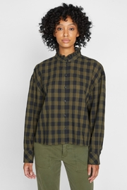 Sanctuary All About The Ruffle Tonal Check Shirt - Product Mini Image